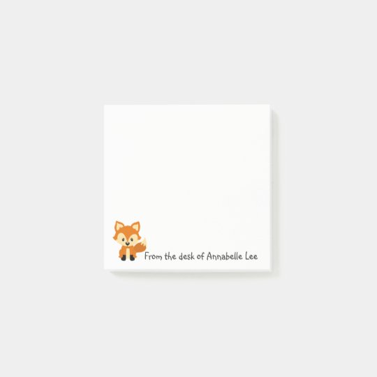 Foxy Little Friend Post-it Notes