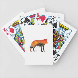 Foxy Sunset Bicycle Playing Cards