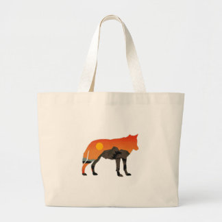 Foxy Sunset Large Tote Bag