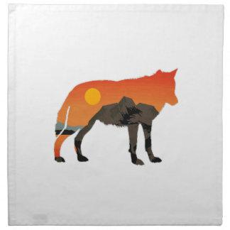 Foxy Sunset Napkin