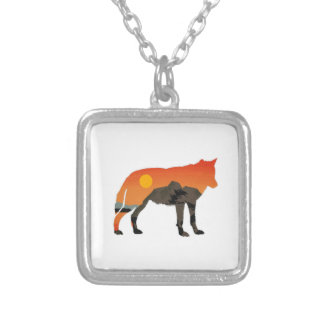 Foxy Sunset Silver Plated Necklace