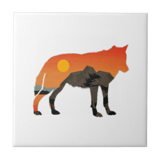 Foxy Sunset Tile