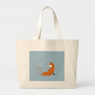 Foxy Takes The Pose Large Tote Bag