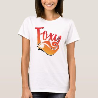 Foxy text on t-shirt