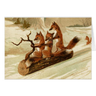 Foxy Winter Fun Card