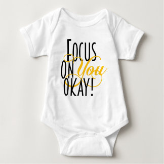 FOYO-text-TEE-yello-final Baby Bodysuit