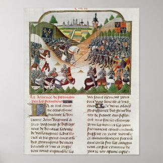 Fr 2691 f.183 Battle scene, by Jehan Charetier Poster