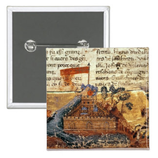 Fr 4972 f.1: Jerusalem in the Crusades 2 Inch Square Button