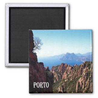 FR - Corsica - City of Porto in Corsica Square Magnet