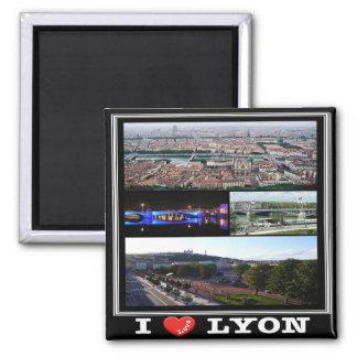 FR - France - Lyon - I Love - Collage Magnet