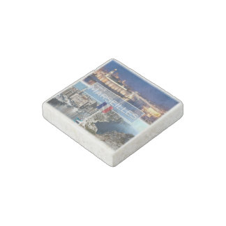 FR France - Marseilles - Old Port - Bay of Morgiou Stone Magnets