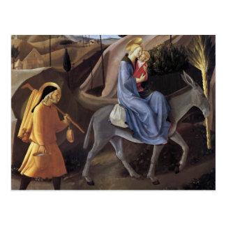 Fra Angelico- Flight into Egypt Postcard