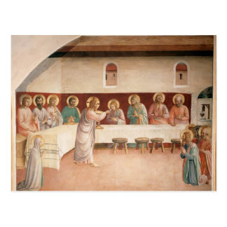 Fra Angelico- Institution of the Eucharist Postcard