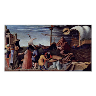 Fra Angelico - Rescue the sailors Poster