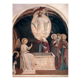 Fra Angelico-Resurrection of Christ,Women at Tomb Postcard