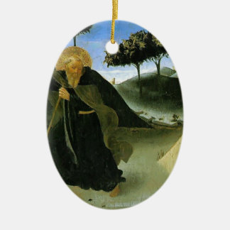 Fra Angelico- St Anthony Tempted by a Lump of Gold Ceramic Ornament