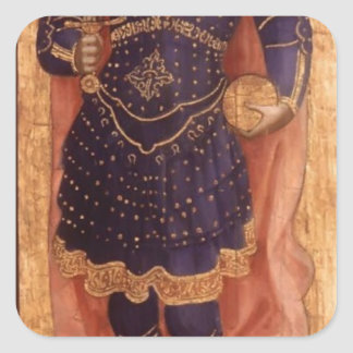 Fra Angelico- St. Michael Square Sticker