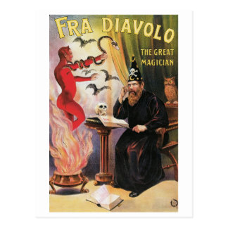 Fra Diavolo ~ The Great Magician Vintage Magic Act Postcard