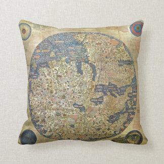 Fra Mauro Map Pillow