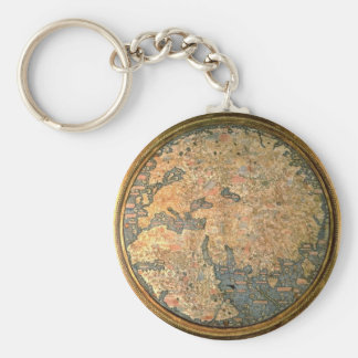 Fra Mauro world map Keychain