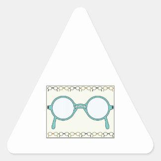 Fraamed Glasses Triangle Sticker