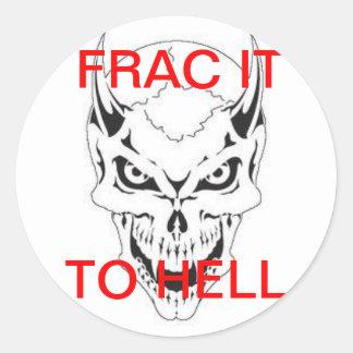 FRAC DEVIL ROUND STICKER