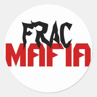 Frac mafia round sticker