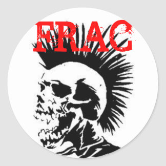 frac skull classic round sticker