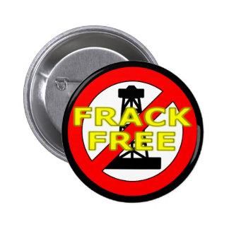 Frack Free UK 2 Inch Round Button