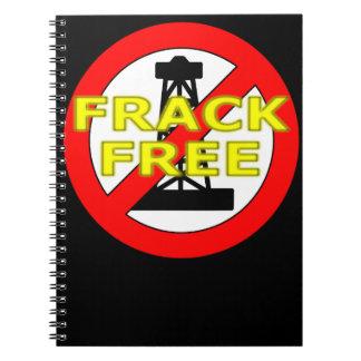 Frack Free UK Spiral Notebooks