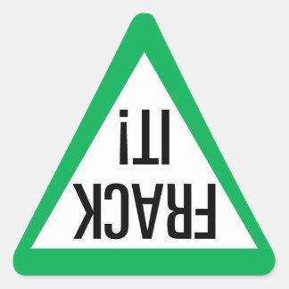 Frack il ! Triangle Sticker Triangulaire