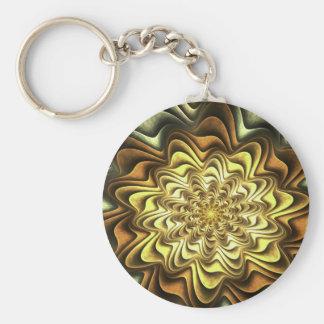 fractal #2 basic round button keychain