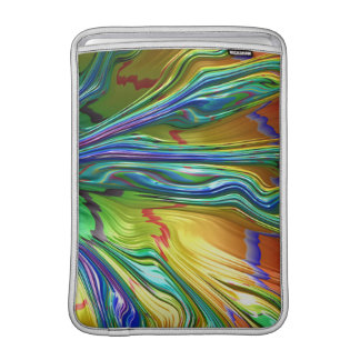 Fractal Abstract Cool Colorful Tree Art Sleeve For MacBook Air