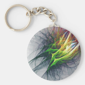Fractal abstract pattern art in 3d keychain