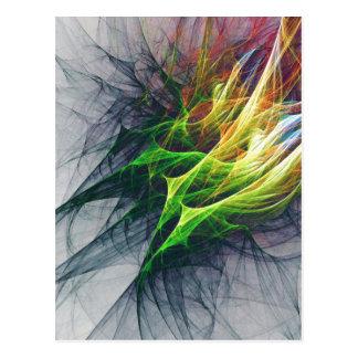 Fractal abstract pattern art in 3d postcard