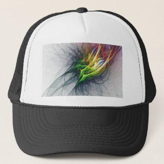 Fractal abstract pattern art in 3d trucker hat