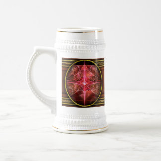 Fractal - Abstract - The essecence of simplicity 18 Oz Beer Stein