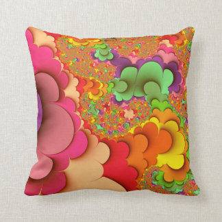 Fractal Abstract Throw Pillow