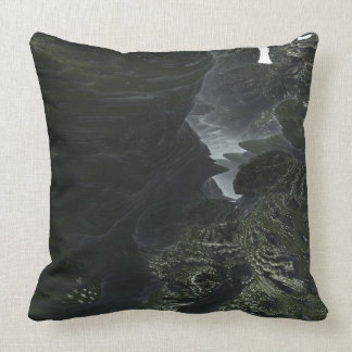 Fractal Alien Landscape Throw Pillow