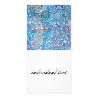 fractal and checkered (SF) Personalized Photo Card