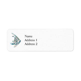 Fractal - Angelfish Return Address Label