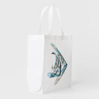 Fractal - Angelfish Reusable Grocery Bag