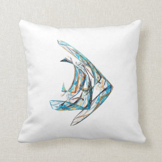 Fractal - Angelfish Throw Pillow