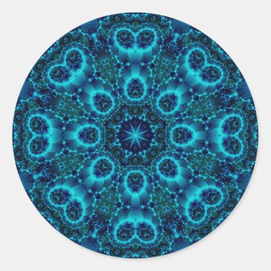 Fractal Art 1057 Classic Round Sticker