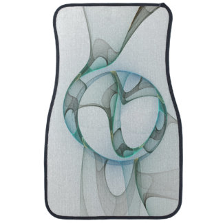 Fractal Art Blue Turquoise Gray Abstract Elegance Car Mat