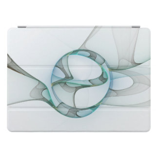 Fractal Art Blue Turquoise Gray Abstract Elegance iPad Pro Cover