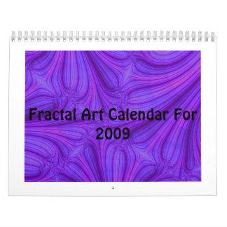 Fractal Art Calendar For 2009