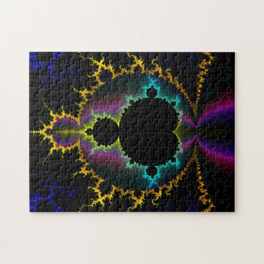 Fractal Art Electric Night Jigsaw Puzzle