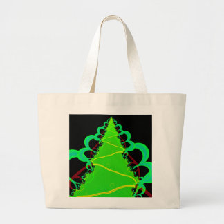 Fractal Art in Green and Black Tote Bag