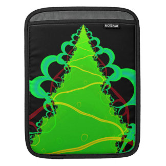 Fractal Art in Green and Black iPad Sleeve